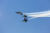 The US Navy Blue Angels, air acrobatic team at the Air National Guard Airshow in Sioux Falls, South Dakota, USA.