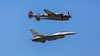 Heritage Flight – F-16 and Lockheed P-38 at the Air National Guard Airshow in Sioux Falls, South Dakota, USA.