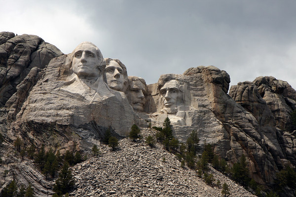 Mt Rushmore in the Black Hills of SD.