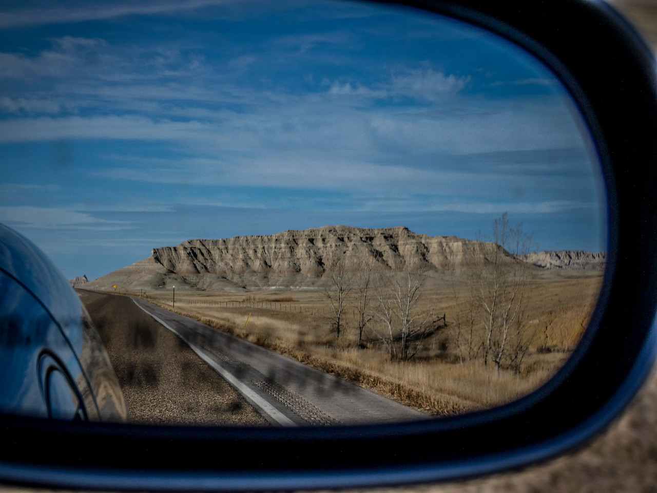 Badlands in the Rear View Mirror