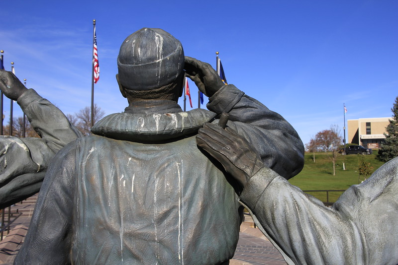Statue of SD Warriors in WWII