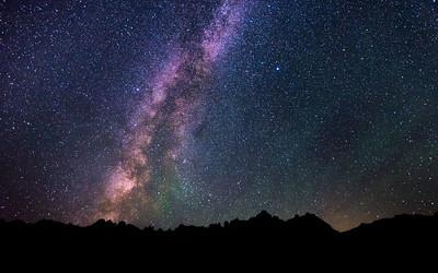 Milky Way in the Badlands
