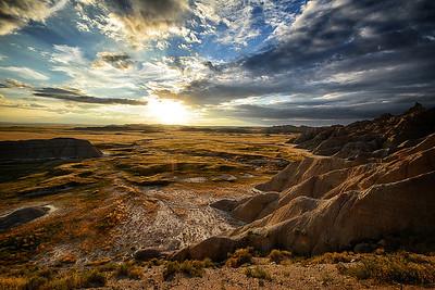 Sunset at The Bad Lands - South Dakota