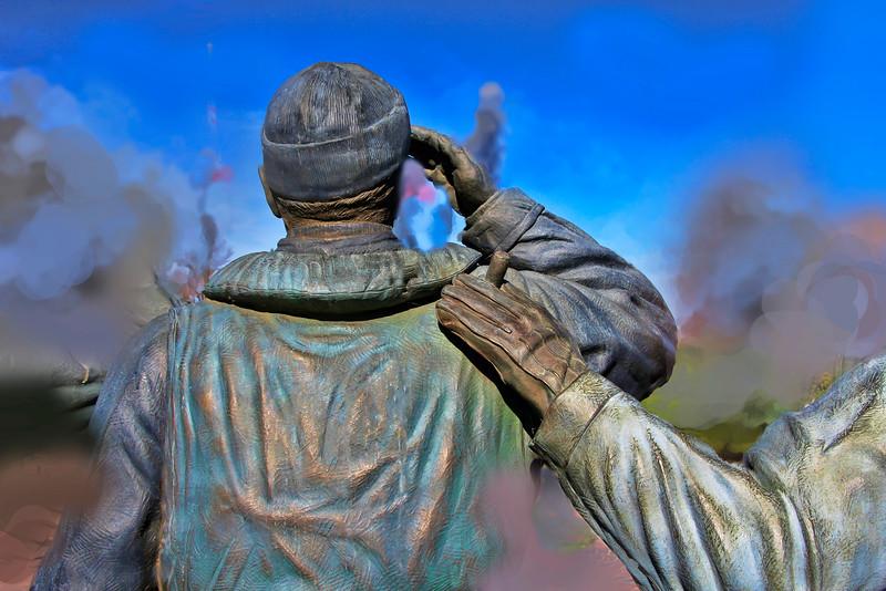 South Dakota Statue of WWII Warriors