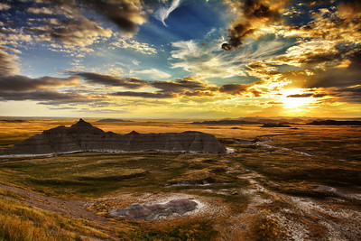 Sunset on the Bad Lands - South Dakota