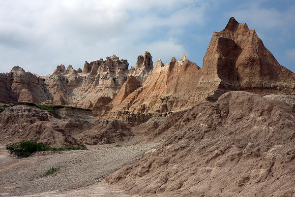 Taken along the Fossil Trail just past Norbeck Pass. The Badlands are one of the most fossil rich places in the world. They continue to find large mammal fossils buried, and have active sites within the park today. We saw remains of ancient bears, rhinos, and turtles marked along this trail.