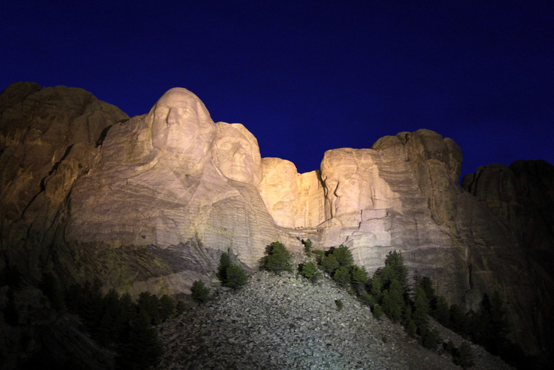 Mount Rushmore Evening Lighting Ceremony