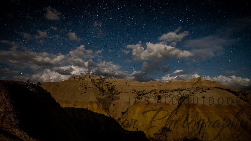 Badlands at Night
