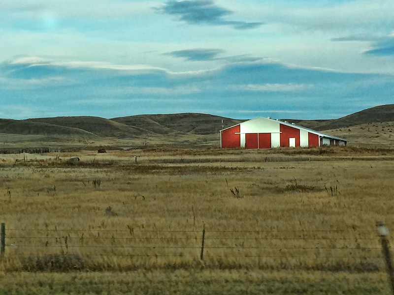 Barn off Highway on way to Ft. Pierre, SD
