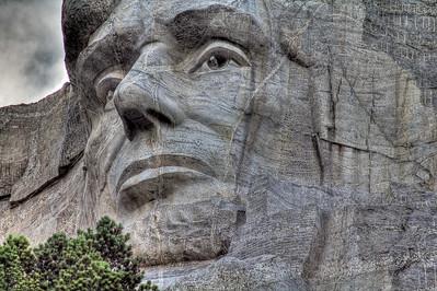 Abe Lincoln, Mt Rushmore National Memorial, South Dakota, USA