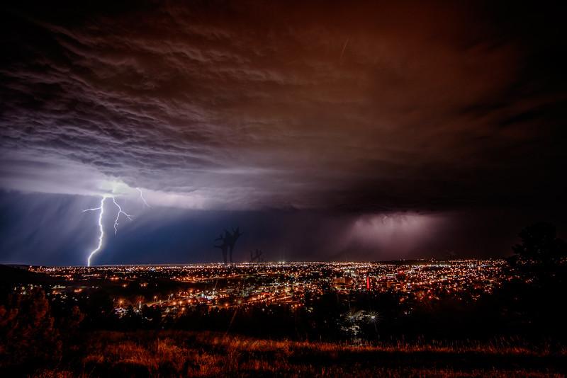 Skyline Lightning over East Rapid City, SD