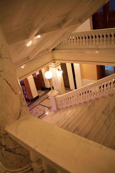 Beautiful marble staircase in Ft. Pierre, SD Capitol Building