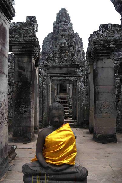 At the entrance of the Bayon, Cambodia