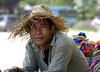 A vendor selling clothes , Siem Reap Cambodia