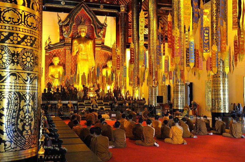 The main prayer hall of Wat Phra Singh, Chiang Mai