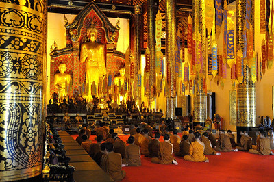 The main prayer hall of Wat Phra Singh, Chiang Mai