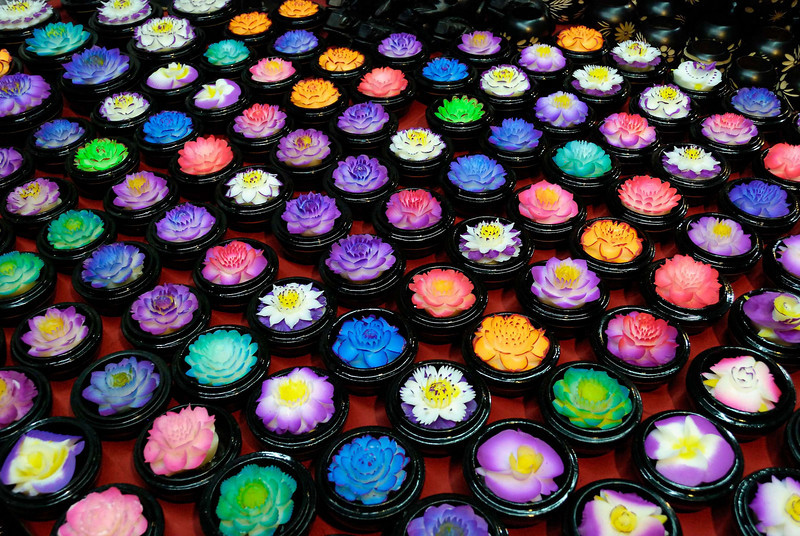 Flower soaps for sale, Hua Hin night market