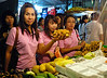 Thai girls shop at the Hua Hin night market