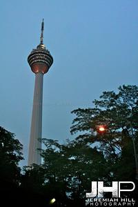 """KL Tower at Dusk"", Kuala Lumpur, Malaysia, 2007 Print ML-165"