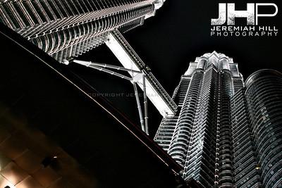 """Petronas Towers At Night #1"", Kuala Lumpur, Malaysia, 2007 Print ML-667"