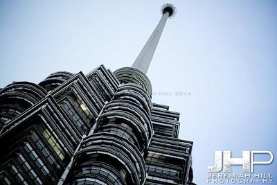 """Petronas Tower Spire"", Kuala Lumpur, Malaysia, 2007 Print ML-574"