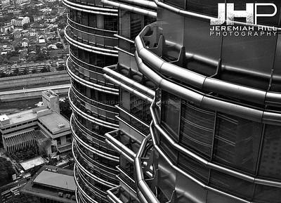 """Petronas Towers #3"", Kuala Lumpur, Malaysia, 2007 Print ML-534"