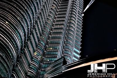 """Petronas Towers At Night #3"", Kuala Lumpur, Malaysia, 2007 Print ML-668"
