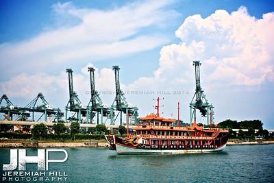 """Singapore Tour Boat"", Singapore, 2007 Print SP-002"