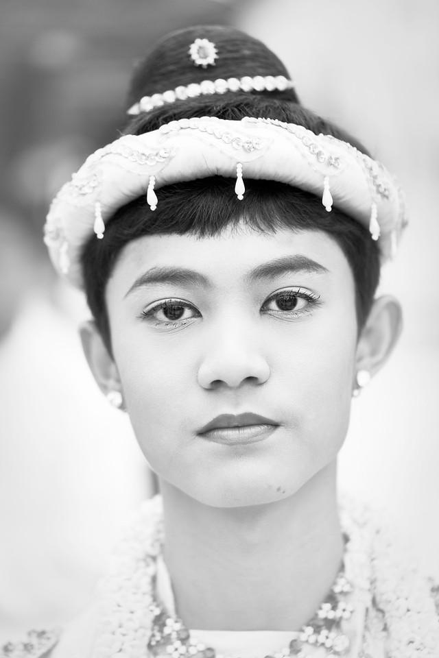 Boy during the Shinpyu Ceremony (initiation of novicehood), Shwedagon Paya, Yangon