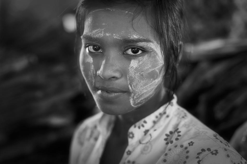 Girl with Indian features, Thirimingala Zei, Yangon