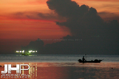 """Fishing Boat At Dusk"", Ko Phan Ngan, Thailand, 2007 Print TH-457"