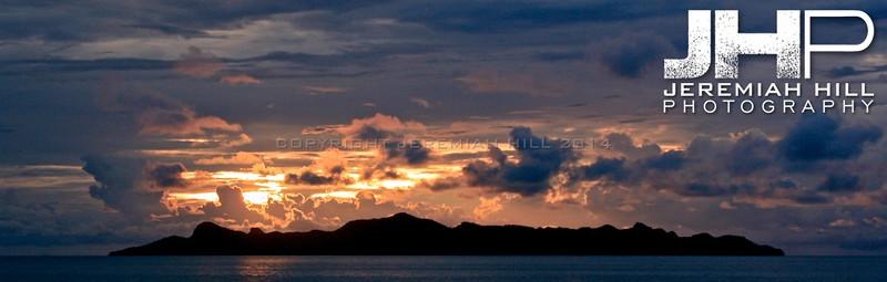 """Ko Phan Ngan Silhouette from Sea"", Ko Phan Ngan, Thailand, 2007 Print TH-660"