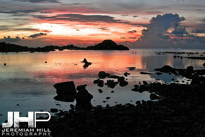 """Sunset Marred By Rock"", Ko Phan Ngan, Thailand, 2007 Print TH-526"