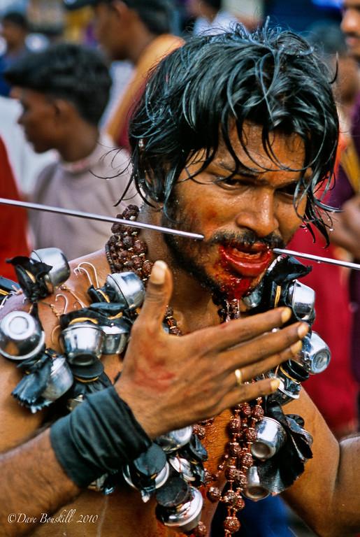 Pilgrim at Thaipusam Festival