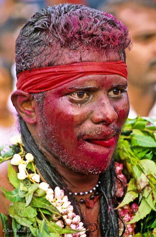 Thaipusam festival worshipper in Trance
