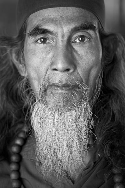 Religious man with beard, Botataung Paya, Yangon
