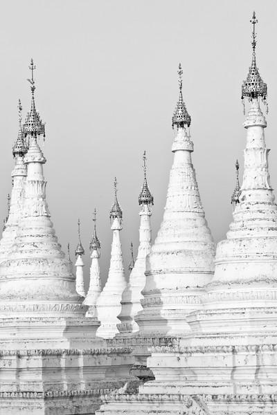 Stupas at sunset, Sandamuni Paya, Mandalay