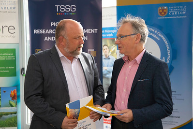 Pictured are David Denieffe, Vice- President for Academic Affairs and Registrar IT Carlow and Prof. Willie Donnelly, President of WIT. Picture: Patrick Browne