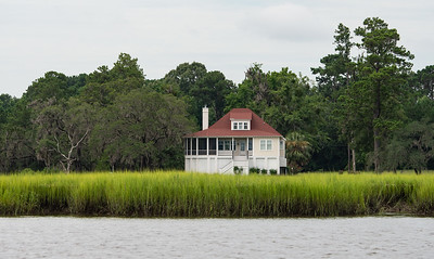 A Low Country home with a river view.