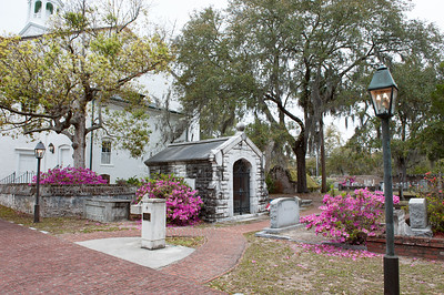Spring Azaleas adds a gentle beauty to the Cemetery.