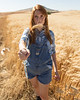 Wheat Field Girl 129