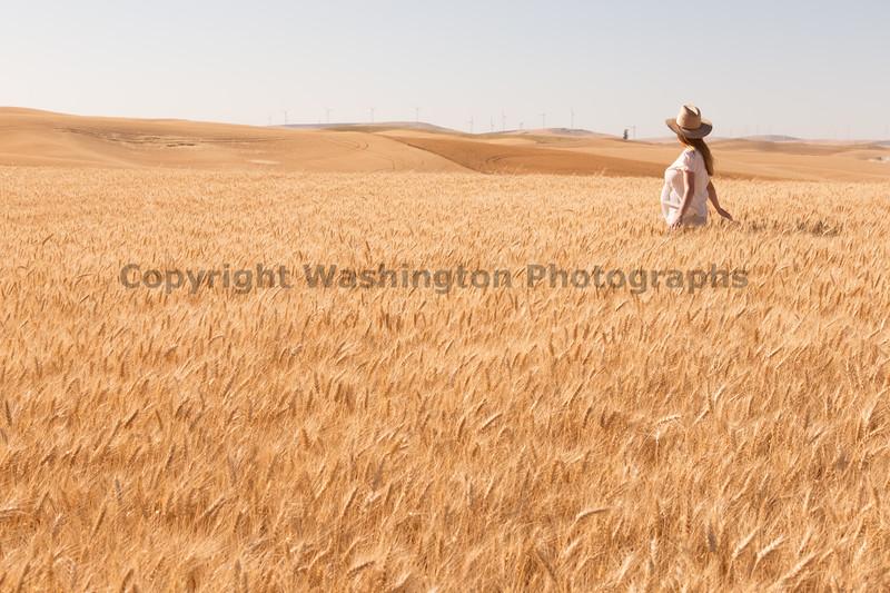 Wheat Field Girl 156