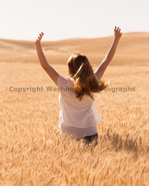 Wheat Field Girl 201