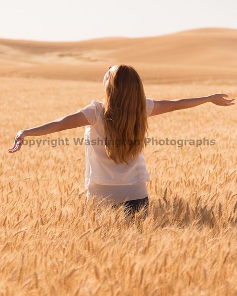 Wheat Field Girl 197