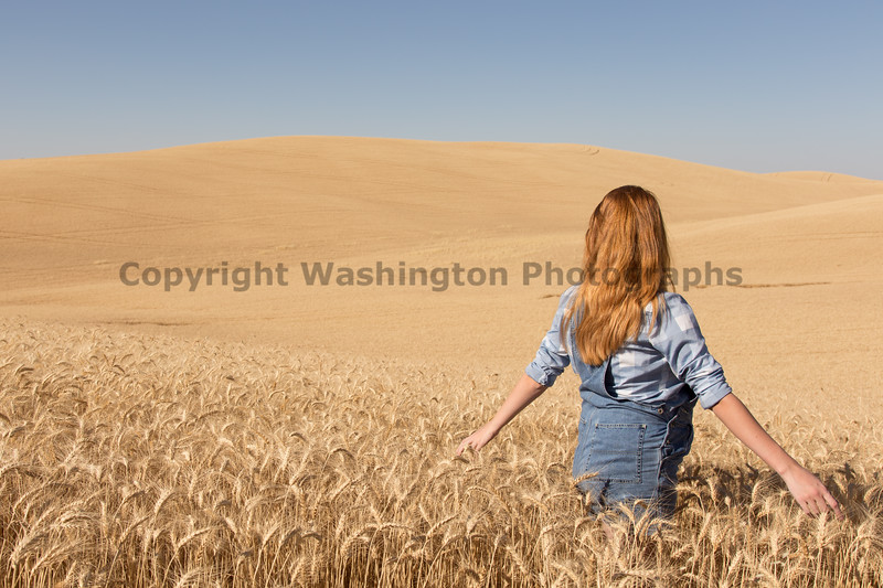 Wheat Field Girl 139