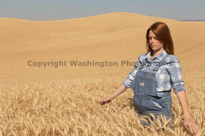 Wheat Field Girl 107