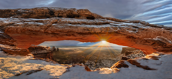 Mesa Arch Winter Solstice