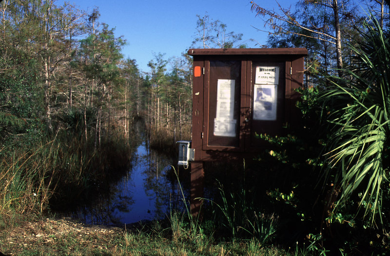 Florida Trail southern terminus, Loop Road<br /> location: Big Cypress National Preserve<br /> PHOTO CREDIT: Bart Smith / Florida Trail Association