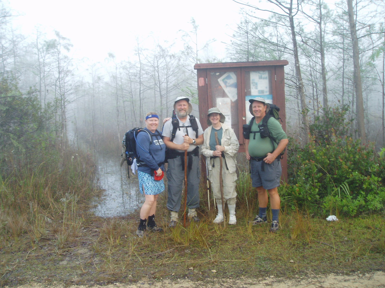 Sendoff at Loop Rd<br /> PHOTO CREDIT: Robert Coveney / Florida Trail Association