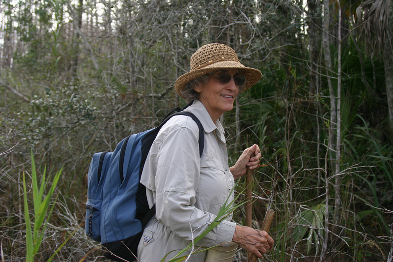 Hiking Big Cypress<br /> PHOTO CREDIT: Claudine Laabs / Florida Trail Association